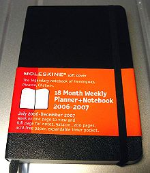 18 Month Weekly Planner + Notebook 2006-2007
